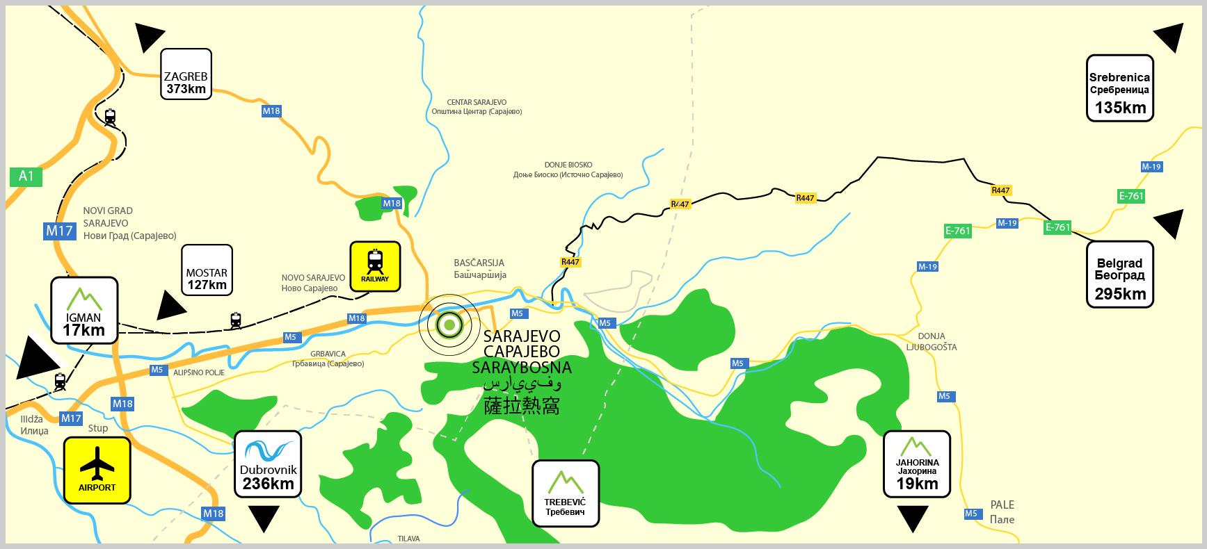 LOCATION SarajevoApartments - Where is sarajevo